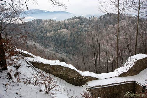 Zamek Pieninski ruins