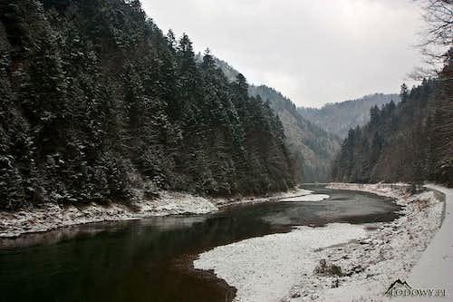 Dunajec canyon below Facimiech