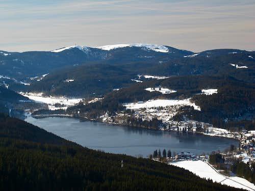 Titisee lake and Feldberg
