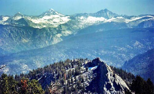 Red Slate Mtn. and Red and White Mtn. from Mt. Ian Campbell