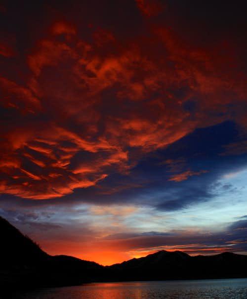 Sunset on Little Dell
