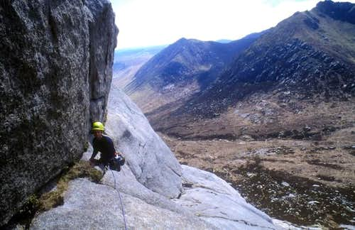 Tom on the traverse pitch....