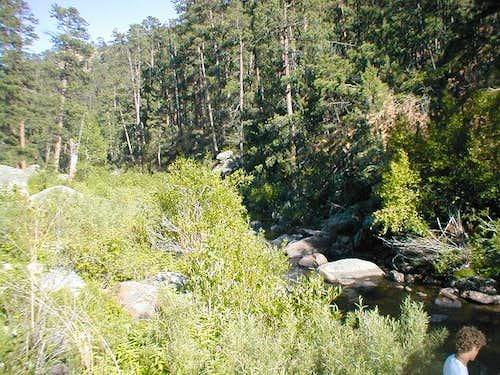 In the spring Horshoe Creek...