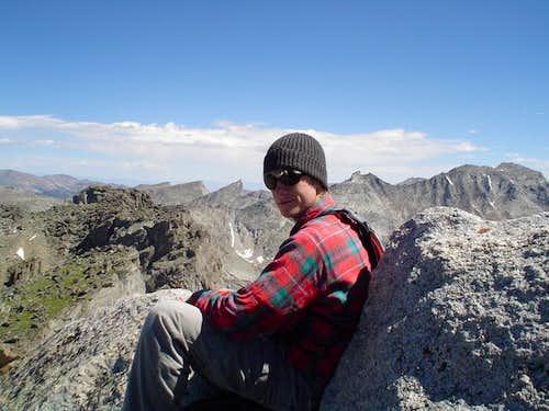 Wild man Dylan Wann sits...