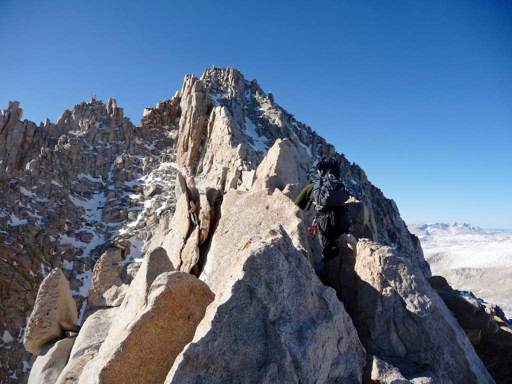 The Ridge gets Thinner Here
