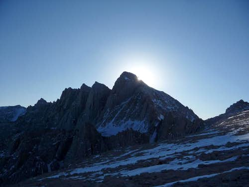 The Sun Setting over Mount Whitney