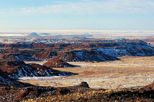 Snow in the Painted Desert I