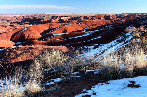 Snow in the Painted Desert II