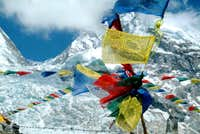 Base Camp prayer flags and...