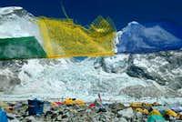 More prayer flags and Khumbu...