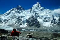 View of Nuptse and Everest...