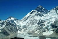 View of Khumbu Icefall and...