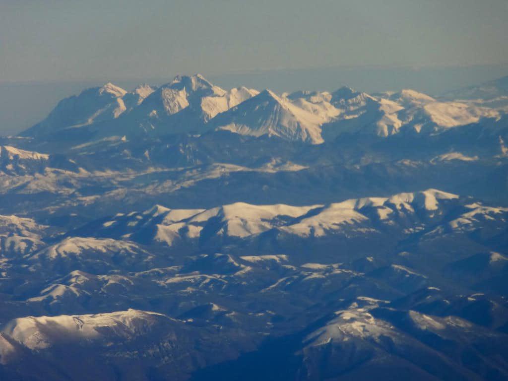 Italian Central Apennines and Grand Sasso range