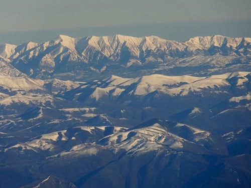 Monti della Laga range, with Monte Gorzano, Cime della Laghetta, and Monte di Mezzo