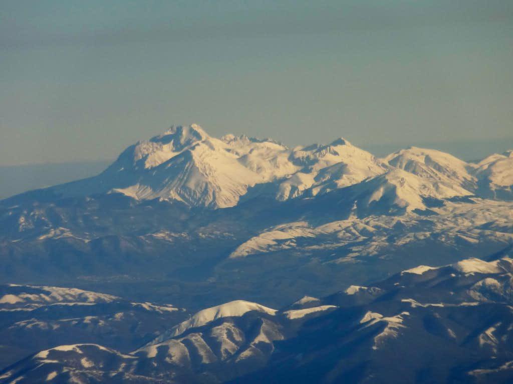 Italian Central Apennines, Monte Corvo and Grand Sasso range