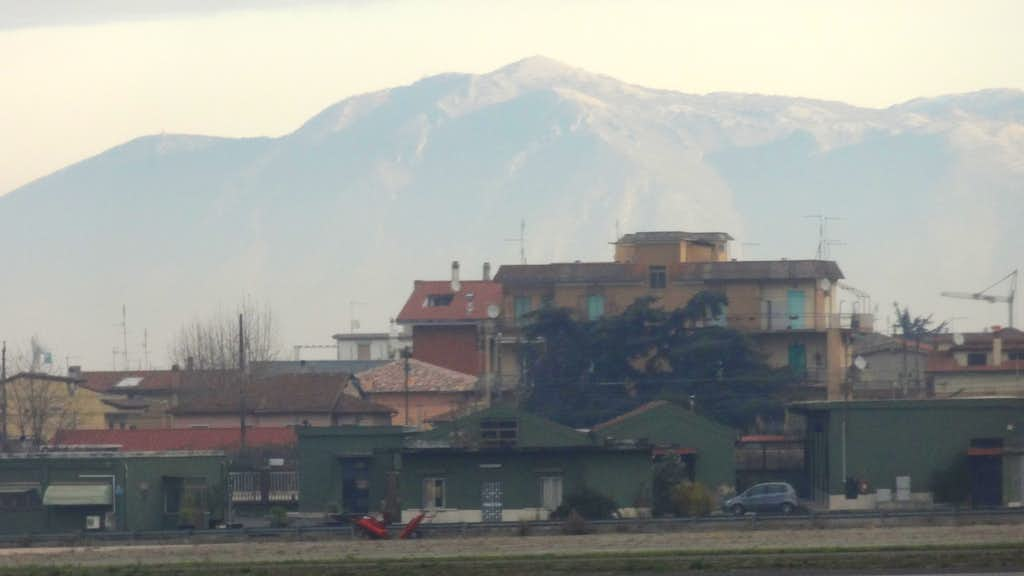 Monte Gennaro, Italian Apennines forehills from Roma airport