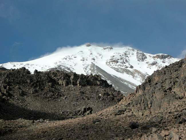 El Pico as seen from the...