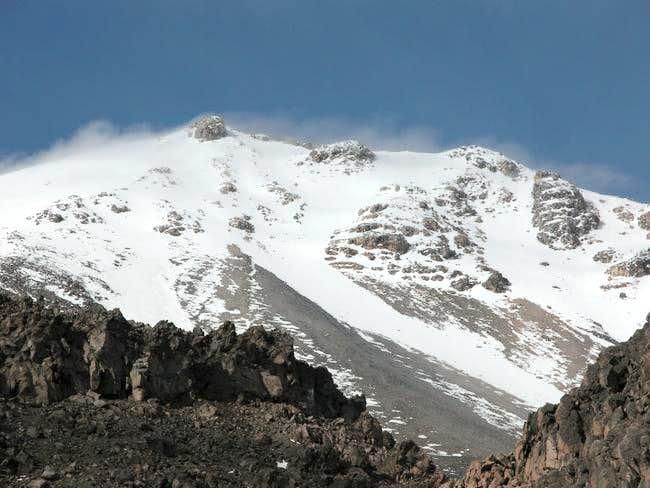 El Pico as seen when the...