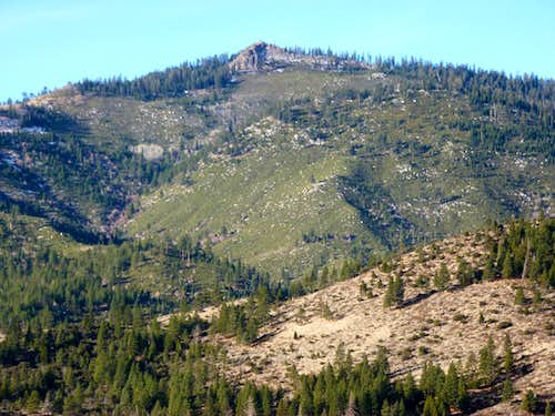 Zoom shot of Verdi Peak 8,444  en route to Cone Peak