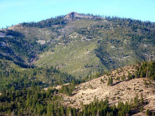 Zoom shot of Verdi Peak 8,444' en route to Cone Peak