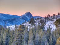Half Dome at Sunrise on New Years Day 2012
