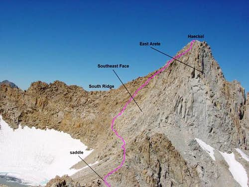Mt. Haeckel\'s East Ridge...