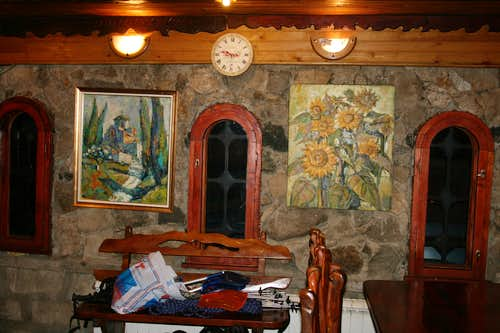 Here's a beautiful photo from our hotel's tavern.