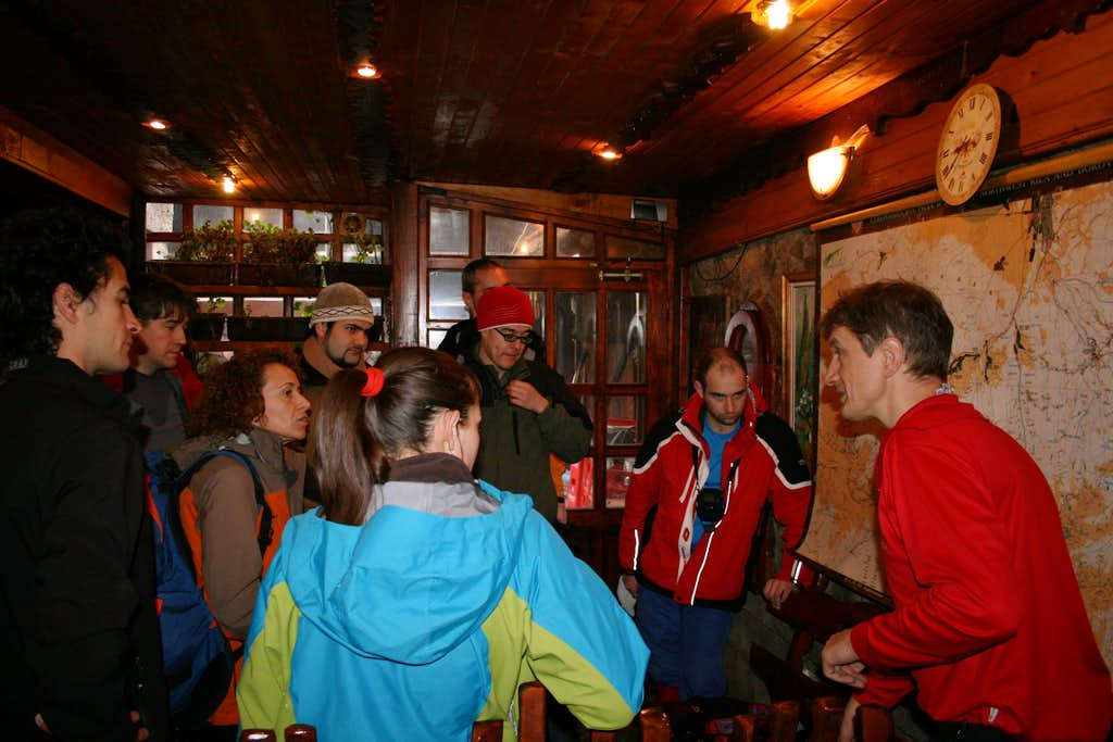 On the morning my colleague Kiril is explaining the route. Also, he answers any questions =)