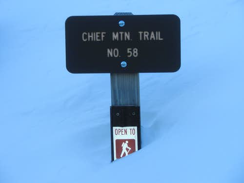 Chief Mountain Trail Sign