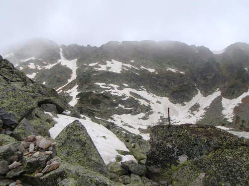 View from Ice Lake to slopes of Musala