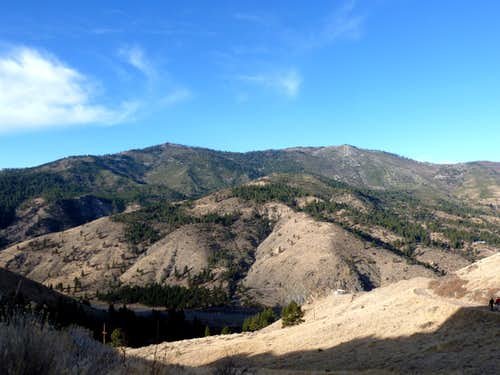 Verdi Peak 8,444' and Ladybug Peak 8,380' from Verdi, NV