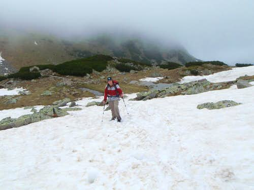 Me in snow on Musala