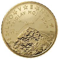 <a href=&quot;http://www.summitpost.org/triglav/150787&quot; target=&quot;_blank&quot;>Triglav</a> on 50 Euro cents Slovenian coins