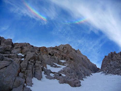 Rainbow Above the Mountaineers Route