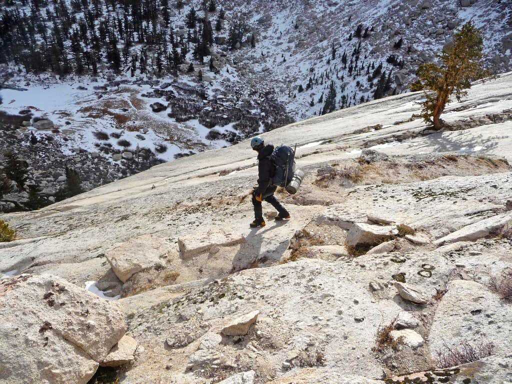 Hiking down the Slabs