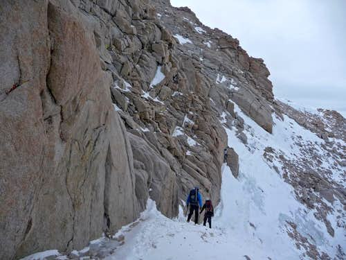 Approaching the North Face