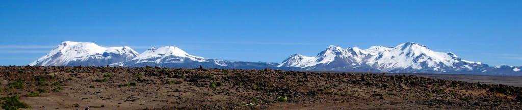 Panorama of Ampato, Sabancaya and Hualca Hualca