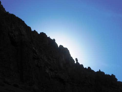 Profile of a ridge