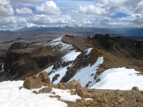 View to Nevado Chucura, along the ridge from Pt 5310