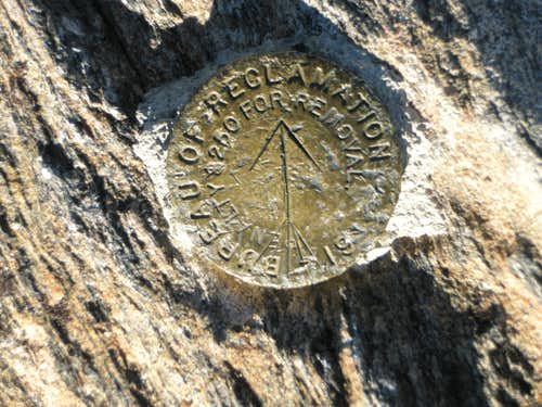 Chief Mountain Summit Marker