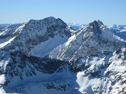 North Apostle and Ice Mtn East Face from Emerald Peak