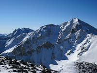 Huron Peak and Apostles viewed form north ridge traverse