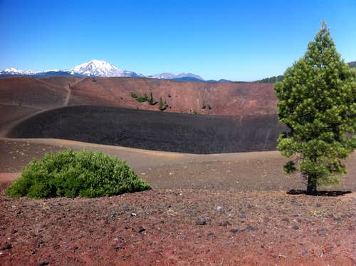 at the top of the Cinder Cone