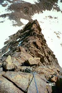 The Swiss Arete from the top...