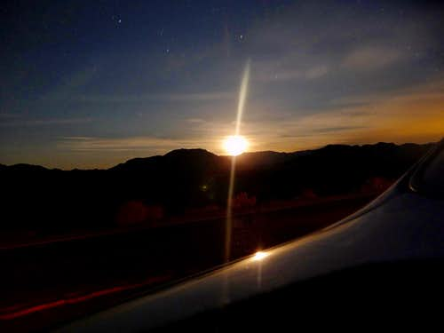 Moonrise on the way to Las Vegas