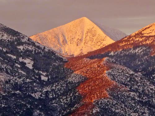 Alpenglow on Baker Peak
