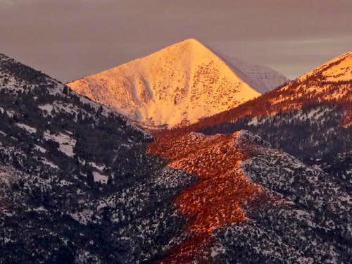 Alpenglow on Baker Peak