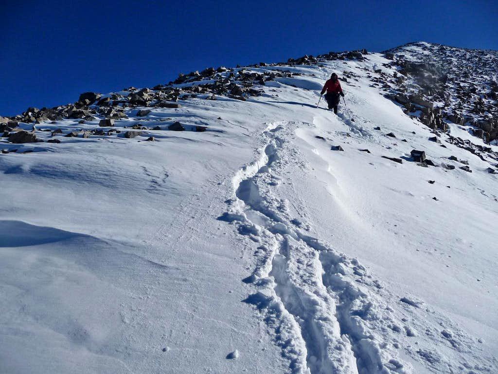 Heading Down Wheeler Peak