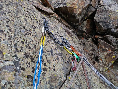 Fixed anchors at the top of 3rd pitch