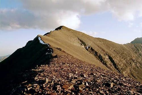 The west face of the summit...